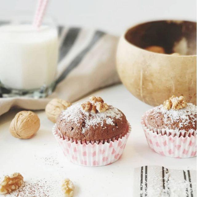 Magdalenas de coco y chocolate
